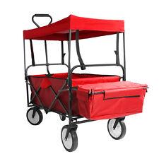 Chariot Transport Main Remorque De Jardin Pliable Chariot + Toit Amovible