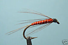 5 x Mouche peche Noyée Rouge Dadat H12 fliegen wet fly fishing trout mosca