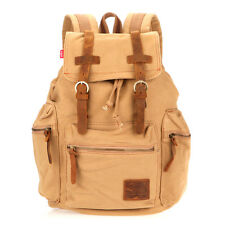 Men Women Vintage Travel Canvas Backpack Sport Rucksack Camping Shoulder Bag