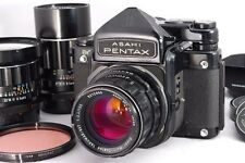 [Exc+++++] Pentax 6x7 TTL Mirror UP + Takumar 55,105,200mm 67 II from Japan #456