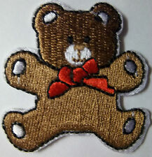 Brown Teddy Bear Iron Sew on  Patch Badge Motif