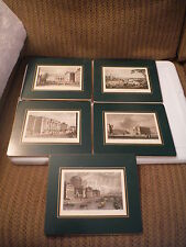 Antique Set of 5 W. H. Bartlett, Geo. Petri Esq. Dublin & College St Prints