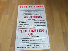 John Clements THE FIGHTING COCK by Lueienne Hill DUKE OF YORK Theatre Poster