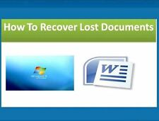 Recover Restore Undelete Files Documents Software provided on CD