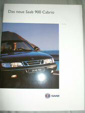 Saab 900 Cabrio brochure 1994 German text