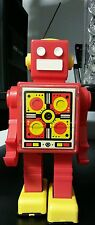 "Russian ROBOT toy 1980's 9"" plastic windup red USSR pogot wind up soviet vintage"