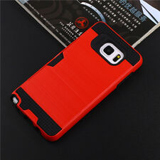 For Samsung Galaxy Note 7 5 Tough Hybrid Armor Shockproof Case Cover + Card Slot