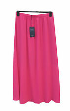 Marks and Spencer Fully Lined Elastic Waist Long Pink Summer Skirt Size 12