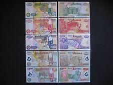 ZAMBIA  20 + 50 + 100 + 500 + 1000 Kwacha 1992 - 2009  UNC