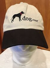 Dog.com Hat Cap Beige Black Lab Embroidered One Size Velcro Cotton Clean