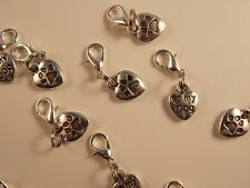 I LOVE MY DOG double Sided clip on lobster clasp for charm bracelets