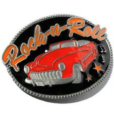 Buckle Rock-n-roll, con convertible en rojo, US-Cars, adorno en la cintura