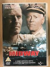 Charlton Heston Henry Fonda Battle of MIDWAY ~ 1976 World War II Film | UK DVD