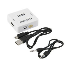 1080P HDMI To VGA MINI HDMI To VGA Audio Video HDTV Converter Adapter New CC