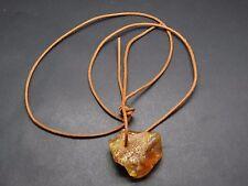Rohbernstein con marrón colgante cadena 106 cm