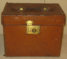 Antique HENRY MAXWELL 'Shoes & Boats Care LEATHER HANDLE BOX - LONDON UK Bespoke