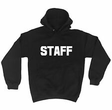 STAFF (LARGE FRONT AND BACK) HOODIE - work uniform workwear bar pub club hoody