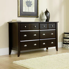 New Sauder Furniture Shoal Creek Dresser Chest Jamocha Wood Finish