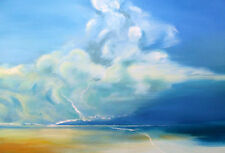 "STUNNING ORIGINAL BRYONY HARRISON  ""Seascape 1""  ISLE ON MAN BEACH  PAINTING"