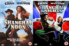 SHANGHAI NOON + SHANGHAI NIGHTS DVD 2 Movie Film Collection Jackie Chan KNIGHTS