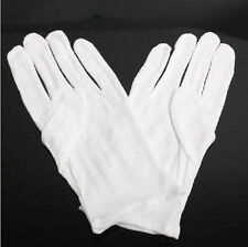HOT! 1Pairs White Jewelry Silver Inspection Cotton Lisle WORK Gloves