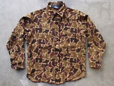 Vintage Woolrich Duck Camo Wool Shirt Size M L Made in USA Green Forest