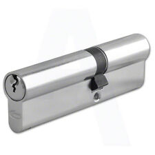 Asec(Yale Style) 6 Pin Euro Cylinder Nickel Plated 90mm 45/45 Lock UPVC Door
