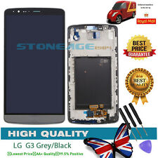 For LG G3 D855 D850 LCD DISPLAY DIGITIZER TOUCH SCREEN BLACK/ GREY + Frame