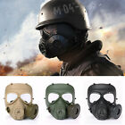 M04 Airsoft Tactical Wargame DUMMY Gas Protective Mask Anti-Fog Gear Fan Cosplay
