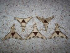 Lot of 5 US ARMY 3rd Corp III Corps Insignia MILITARY PATCH Patches DESERT Tan