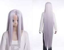 W-530 FINAL FANTASY FF 7 VII SEPHIROTH ARGENTO SILVER 130cm Cosplay Parrucca Wig