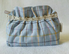 Cosmetic Bag Cosmetic Pouch Bag In Bag Linen Cotton_CBMC002_Actual Item Photo