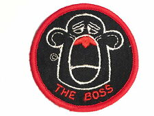 """The Boss"" Meat-Head Sew on Cloth Patch Badge 1970's"