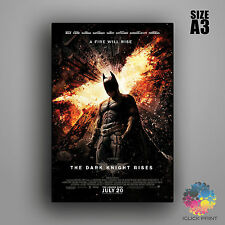 Batman The Dark Knight Rises Framed A3 Poster