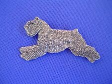 Bouvier des Flandres Leaping pin 43E Pewter Dog Jewelry by Cindy A. Conter