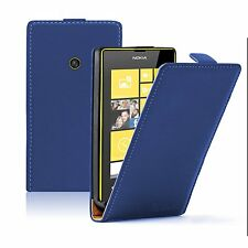 Ultra Slim BLUE Leather case cover Mobile Phone saver for Nokia Lumia 520