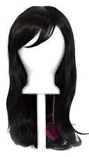 20'' Wavy Cut with Long Bangs Natural Black Cosplay Wig NEW