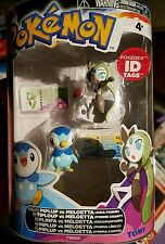 Pokemon Tomy figure 2 pack Piplup Meloetta