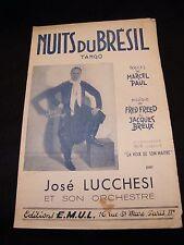 Partition Nuits du Brésil José Lucchesi Music Sheet