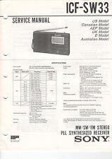 SONY Service Manual Konvolut ICF-SW33 SW11 - B2031
