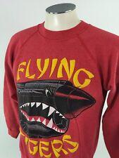 Flying Tigers WWII Warhawk VTG Crewneck Sweatshirt L War Military Airplane 50/50