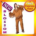 C114 Men Native American Indian Warrior Halloween Adult Costume