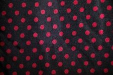 Red Black Polka Dot Stretch Charmeuse Print #15 Apparel Dress Sewing Fabric BTY