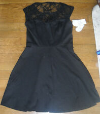 NWT Macys Lots of Love by Speechless Little Black Lace Dress sixe xs extra small