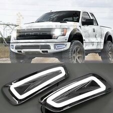 2x LED Daytime Running Fog Lights Lamp DRL For Ford F150 Raptor SVT 2009-2015