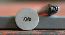 SUPPLY GUY 5mm Whimsicle Love Word Metal Punch Design Stamp SGWM-29, Made USA