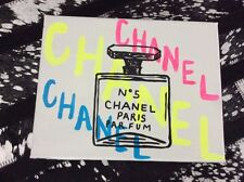 Chanel Perfume Pop Art Painting Canvas Acrylic Neon Paris Designer