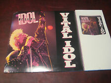 BILLY IDOL VITAL IDOL RARE CHRYSALIS RECORDS 1987 ORIGINAL ISSUE + CD LONG BOX