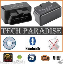 Interface Valise diagnostic diagnostique ELM327 HUD OBDII Bluetooth *Noir* + CD