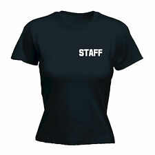 STAFF (BREAST POCK AND LARGE ON BACK) WOMENS T-SHIRT - uniform workwear pub tee